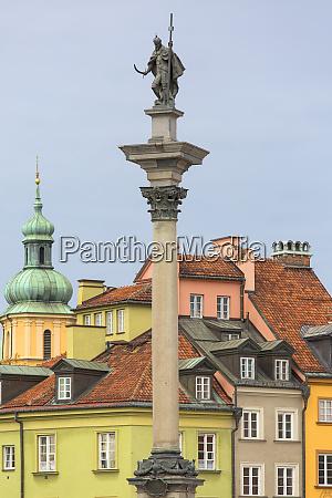 17th century sigismund column on castle