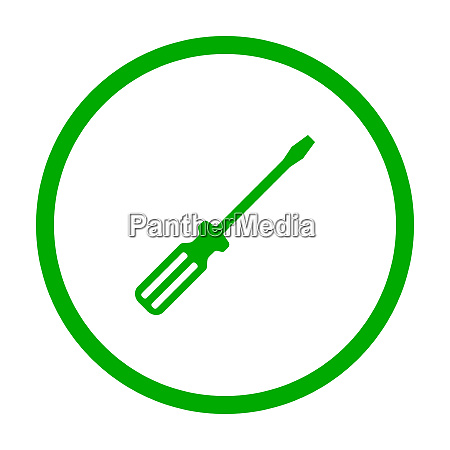 screwdriver and circle