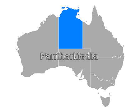 map of northern territory in australia