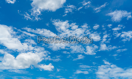 beautiful blue sky and white cumulus