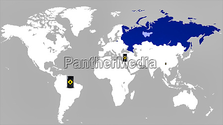 map of world and russia illustration