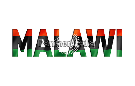 malawi flag text font