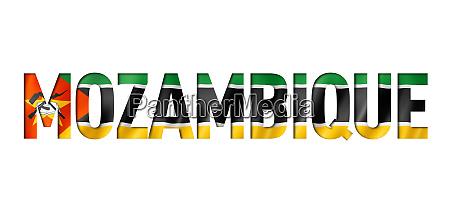 mozambique flag text font