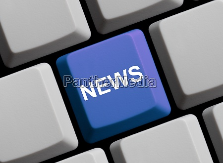 news on blue computer keyboard
