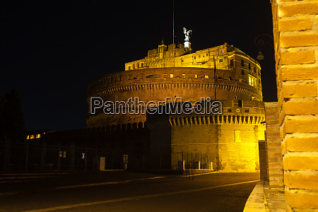 night scene of rome mausoleum of