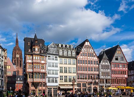 historic house facades in frankfurt