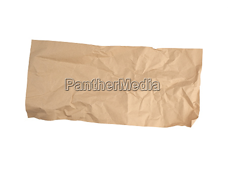 crumpled brown sheet of paper for