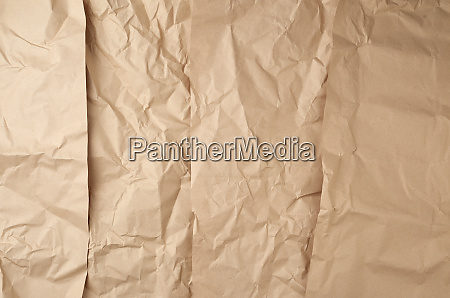 crumpled paper texture from brown sheets