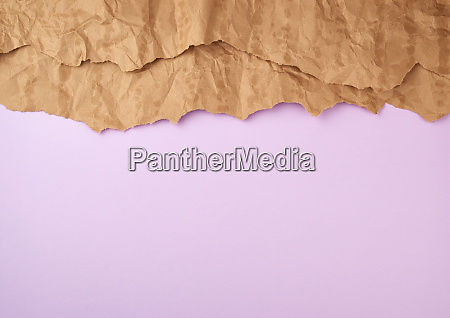 abstract lilac background with brown torn