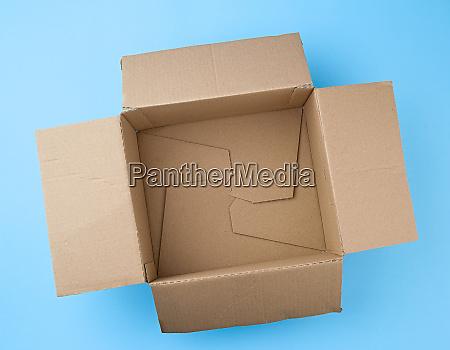 open square empty cardboard brown box