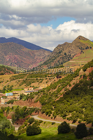 high atlas mountains morocco village