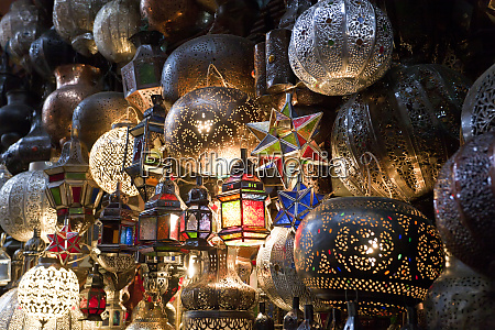 lanterns for sale in the souk