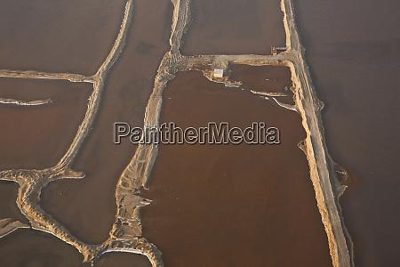 salt works aerial view namibia