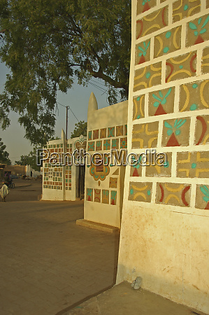 niger zinder houses with traditionnal hausa