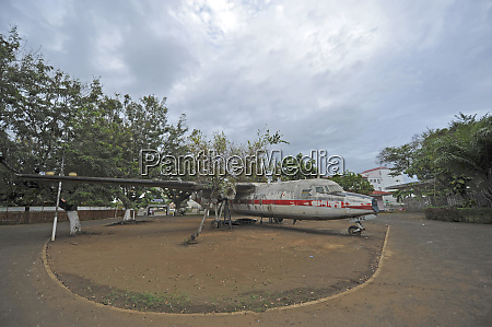 sao tome view of old plane