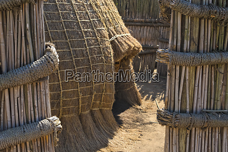 traditional dome houses made of straw