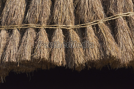 straw roof of traditional dome houses