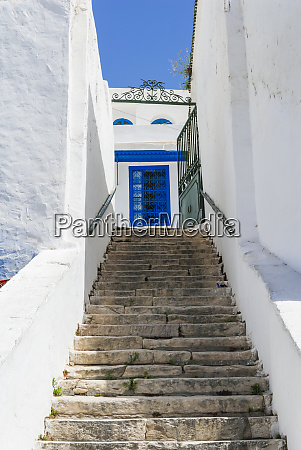 street sidi bou said tunisia north
