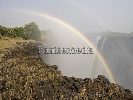 africa zimbabwe victoria falls rainbow over