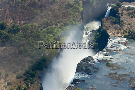 aerial view of victoria falls zimbabwe