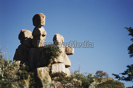 zimbabwe bulawayo beautiful rock formation and