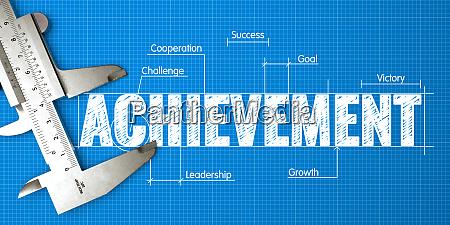 measurement of achievement business concept on