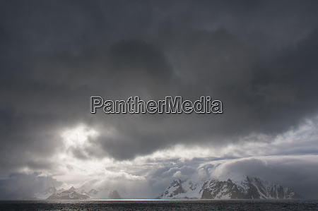 antarctica bransfield strait stormy skies