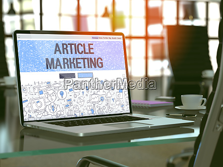 article marketing concept on laptop