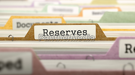 reserves concept on file label