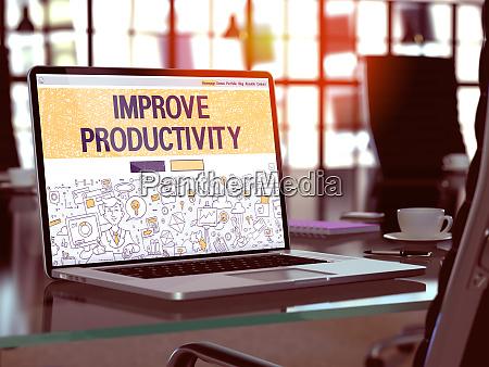 improve productivity concept on laptop