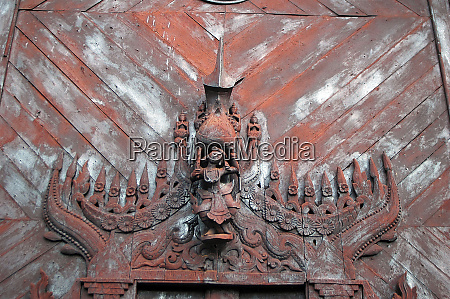 myanmar mandalay detail of a wooden