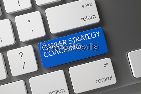 blue career strategy coaching button on