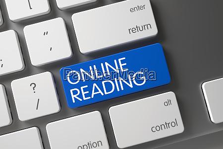 blue online reading key on keyboard