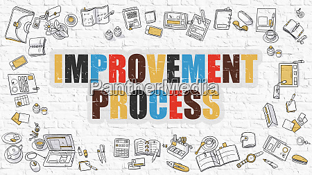 improvement process in multicolor doodle design