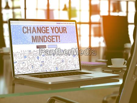 change your mindset concept on