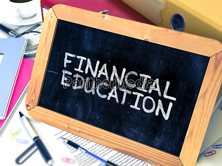 financial education concept hand drawn on