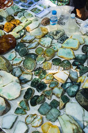 myanmar mandalay jade market jade rocks