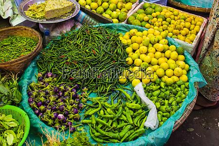 myanmar mandalay chilies limes and tiny