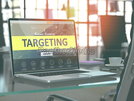 targeting concept on laptop screen