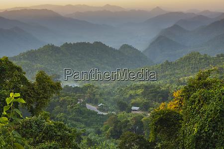 myanmar shan state near kalaw sunset