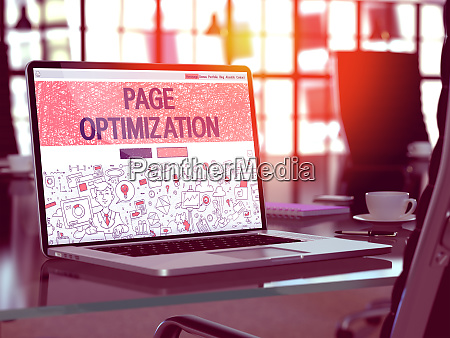 page optimization concept on laptop screen