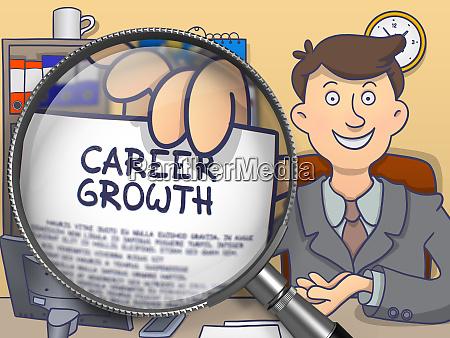 career growth through magnifier doodle design