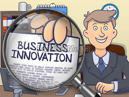 business innovation through lens doodle design