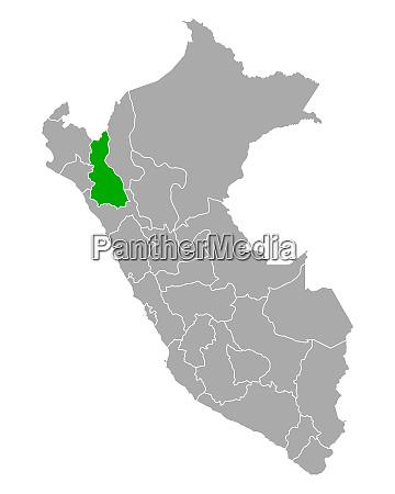 map of cajamarca in peru