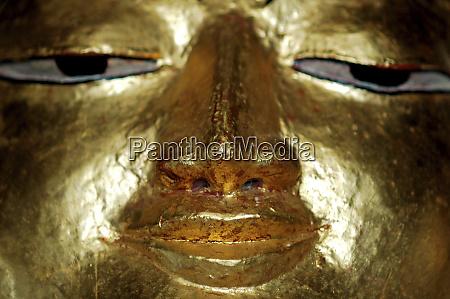 myanmar bagan close up of golden