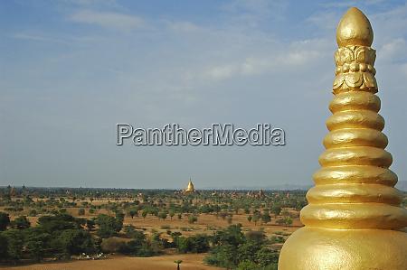 myanmar bagan detail of the golden