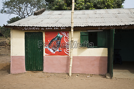 west africa benin building with painted