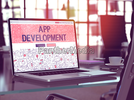 app development concept on laptop screen