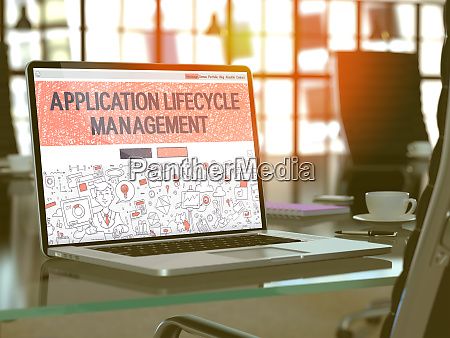 application lifecycle management concept on laptop