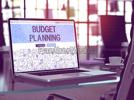 budget planning concept on laptop screen